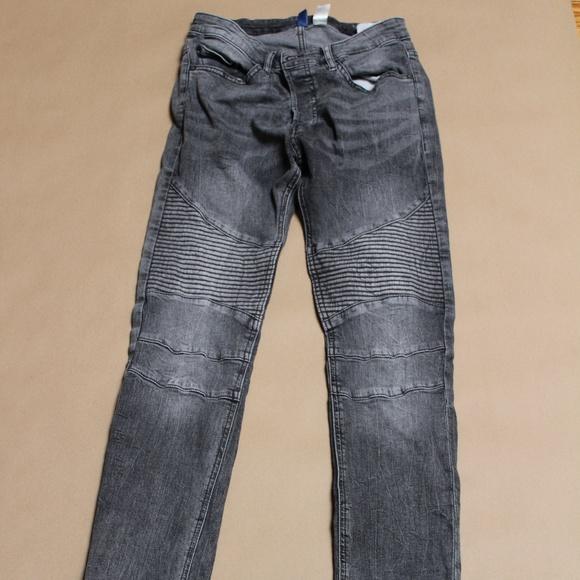 H M Jeans Mens Hm Biker Gray Sz 30 001 Poshmark